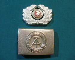 Buckle And Cap Badge Ddr East German Nva Army Grenztruppen Border Guards Stasi Mfs