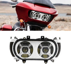 Led Dual Headlight And Turn Signal Side Light For Harley Touring Road Glide 15-19