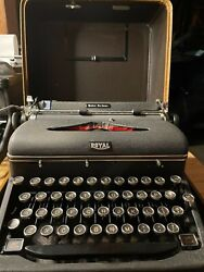 Vintage Royal Quiet De Luxe Typewriter With Case Professionally Serviced