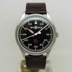 Bell And Ross Watch Brv1-92 Vintage Military Black Mens Automatic Overhauled