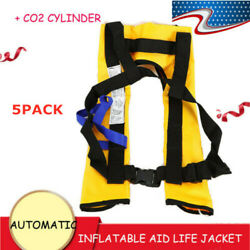 5xuniversal Survival Adult Automatic Inflatable Life Jacket Vest Swiming Fishing