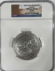 2012-p Early Releases 5oz Silver Atb Chaco America The Beautiful Ngc Sp70