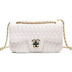 YXBQueen Crossbody Purses Women Genuine Leather Handbags Quilted Flap Bag $52.63