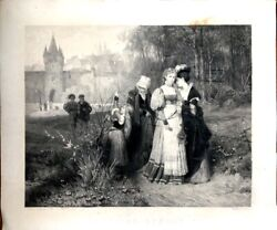 Spring Sunday-large Engraving By J. Bankel From A Robert Beyschlag Painting