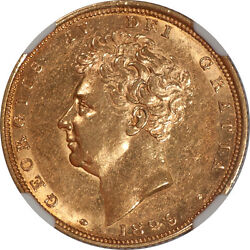 Great Britain 1829 George Iv Gold Sovereign Ngc Au-58 Rare