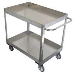Zoro Select 11a470 Stainless Steel Corrosion-resistant Utility Cart With Deep