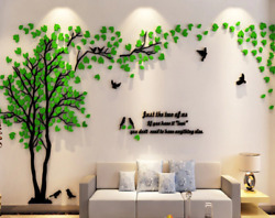 3d Wall Sticker Tree Decals Acrylic Room Decoration TV Background Valentine Gift