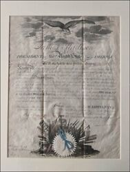 Beautiful President James Madison Signed, U S Naval Commission, 1812, War Dated