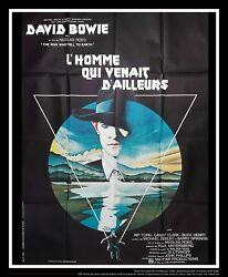 Man Who Fell To Hearth 4x6 Ft Vintage French Grande Movie Poster Original 1976