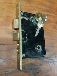Corbin - Nos - Push Button Entry Mortise Lock Wcylinder And Key