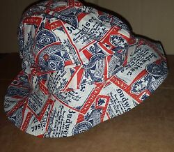 Budweiser Crusher/ Bucket Hat, New, Stained