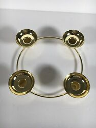 Partylite Gold Brass Candle Holder 4 Tulip Peglite Candle Holders P7366 Century