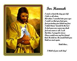 Fawn Chihuahua Dog Memorial Picture W/jesus In Heaven Personalized W/petand039s Name2