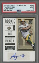 2017 Panini Contenders Rookie Ticket Taysom Hill Rc Auto Packers Psa 9 Mint