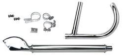 Complete Chrome Exhaust System For 1930 - 1936 1940 Harley Vl And Vlh