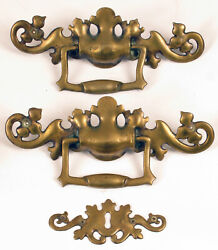 Antique Brass Furniture Hardware Architectural Handles Crb Co. 12321 And 12302