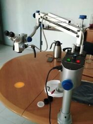 Dental Surgical Microscope 5 Step With Motorized Foot System And Head Light Loupe