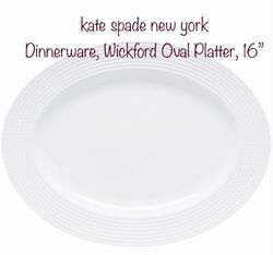 Kate Spade New York Dinnerware, Wickford Oval Platter, 16in. Used Replacement