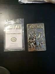 Pokemon Charizard 23k Gold Plated Trading Cards Comes With Coa Nintendo