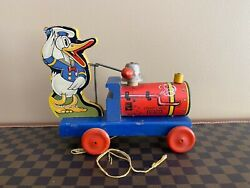 Extremely Rare Vintage 1930's Fisher Price Donald Duck Choo Choo 465