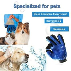 Dog Pet Grooming Glove Cats Brush Comb Bath Cleaning Animal