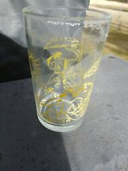 Vtg 1960s The Flintstones Yellow Fred Goes Hunting Welchand039s Jelly Glass Cup