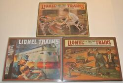 Lot Of Three 3 Hallmark Lionel Trains Metal Tin Signs Brand New Factory Sealed