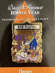 Beauty And Beast Movie Poster Marquee Waltand039s 100th Year Classics Series Disney Pin