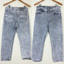 Thrashed Vtg 80s 90s 501 Denim Jeans 31x29 Actual Faded Gray Acid Wash