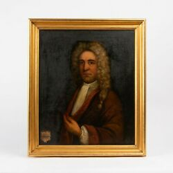 Fine 18th C Antique Old Master Portrait Painting Of Nobleman