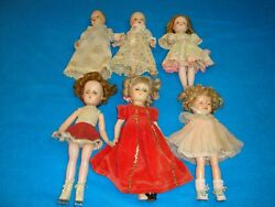 Vintage 13,14 Shirley Temple,alexander And More Composition Plastic Doll Lot
