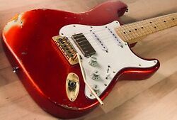 S71 Candy Tangerine Hss Proto Based On A Fender Japan Body/mighty Mite Usa Neck