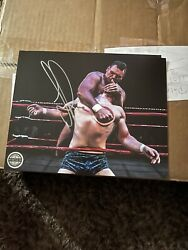 Pro Wrestling Crate Exclusive Walter Autograph 8 × 10 Photograph Wwe