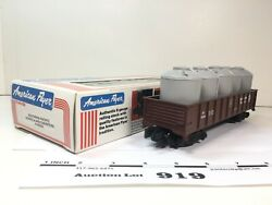 L919 American Flyer Southern Pacific Gondola W/ Canisters S Scale 2 Rail Plastic