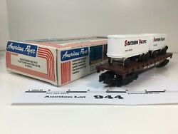 L944 American Flyer Southern Pacific Flat Car W/ Trailers S Scale 2 Rail Plastic