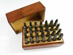 Complete Vintage 28 Piece Steel Alphabet Stamping Set — 1/8 Tall Letters