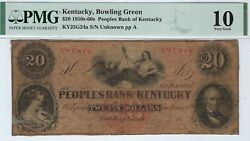 Kentucky - Peoples Bank Of Ky - 20.00 - Pmg Very Good 10 - 2-3 Known