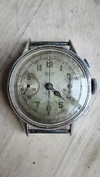 1940s Record Watch Company Decimal Dial Chronograph Valjoux 22 Serviced