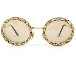 Rare Vintage Tura Bejewel Opal Ornamented Frame 1960and039s Sunglasses
