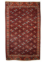 Handmade Antique Turkmen Yomud Rug 6.4and039 X 10.9and039 195cm X 333cm 1880s - 1c310