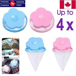 4pc Laundry Filter Bag Floating Pet Lint Hair Catcher Washing Machine Mesh Pouch