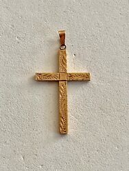 Solid 10k Yellow Gold Cross Pendant, See Other Gold Jewery And Coins