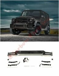 W463 Carbon Front Lip Spoiler With Led Drl Brabus Style Mercedes-benz G-class