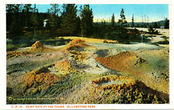 Yellowstone Natand039l Park Yp19 - Paint Pots Bloom Bros White-border A Curtis 1923