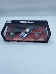 3 Fast And Furious Dodge Charger R/t Nissan Skyline Gt-r Bnr34 Lykan Diecast New