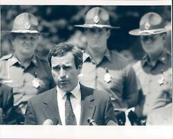 1992 Photo Kevin Burke Essex County Press Conference Rash Fires Police Officers