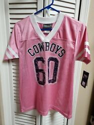 New Nwts Nfl Dallas Cowboys Her Style Pink Jersey Shirt Women's Size Medium