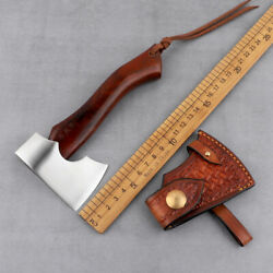 Hand Forged Tomahawk Mini Wooden Handle Axe Outdoor Tactical Modified Camping Ax