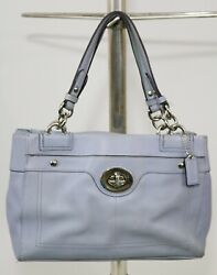 Coach Bag Penelope Pebbled Leather Carryall Satchel F16531 Periwinkle $34.00