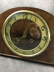 Antique Suevia Germany Grandfather Mantel Clock Wood Westminster Chime -read All